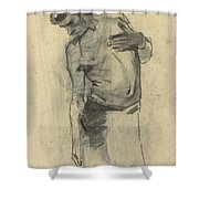 Model Study Of Standing Half-naked Man, For Seeing Down, George Hendrik Breitner, 1867 - 1923 Shower Curtain