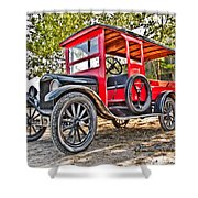 Model T Delivery Shower Curtain