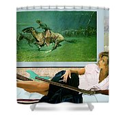 Modeling, Frederick Remingtons, Stampede By Lightning, Advanced Guard Shower Curtain