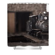 Model Train Shower Curtain