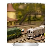 Model Trains Shower Curtain