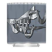 Modern 1102 Shower Curtain