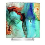Modern Abstract Art - Color Rhapsody - Sharon Cummings Shower Curtain