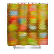 Modern Abstract Mosaic Color Combination 4 Shower Curtain