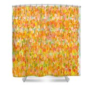 Modern Abstract Pointilist Color Combination 1 Shower Curtain