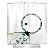 Modern Art - Balancing Act 2 - Sharon Cummings Shower Curtain