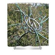Modern Art Displayed Shower Curtain