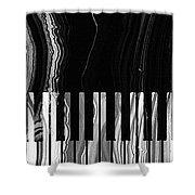 Modern Black And White Piano - Sharon Cummings Shower Curtain by Sharon Cummings