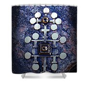 Modern Bronze Design Shower Curtain