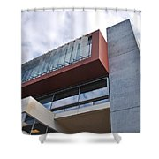 Modern Building Architecture Angles Shower Curtain