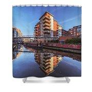 Modern Canal Living Shower Curtain