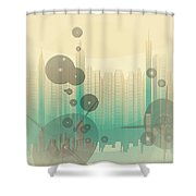 Modern City Abstract Shower Curtain