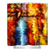Modern Composition 05 Shower Curtain