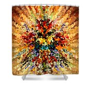 Modern Composition 10 Shower Curtain