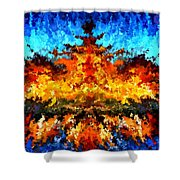 Modern Composition 11 Shower Curtain