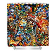 Modern Composition 29 Shower Curtain