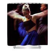 Modern Dance Motion Shower Curtain