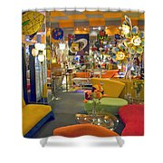 Modern Deco Furniture Store Interior Shower Curtain