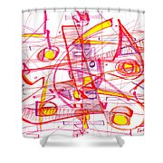 Modern Drawing Eighty-three Shower Curtain