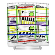 Modern Drawing Fifteen Shower Curtain