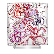 Modern Drawing Fifty-eight Shower Curtain