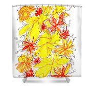 Modern Drawing Fifty-five Shower Curtain