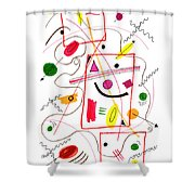 Modern Drawing Fifty-six Shower Curtain