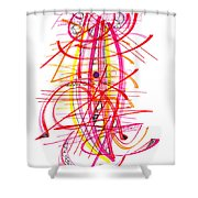 Modern Drawing Forty-five Shower Curtain