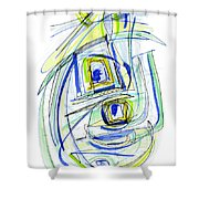 Modern Drawing Forty Shower Curtain
