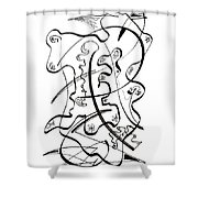 Modern Drawing Forty-seven Shower Curtain