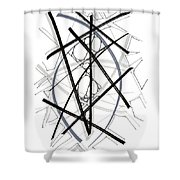 Modern Drawing Forty-six Shower Curtain