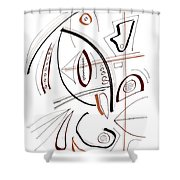 Modern Drawing Sixty-seven Shower Curtain