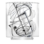 Modern Drawing Thirty-eight Shower Curtain