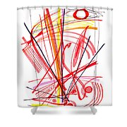 Modern Drawing Thirty-nine Shower Curtain