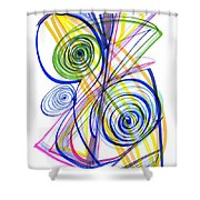 Modern Drawing Thirty-seven Shower Curtain
