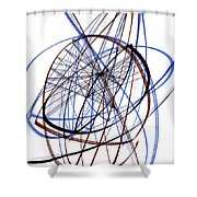 Modern Drawing Thirty-six Shower Curtain