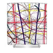 Modern Drawing Twelve Shower Curtain
