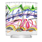 Modern Drawing Twenty-five Shower Curtain