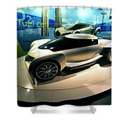 Modern Fuel Cell Car Shower Curtain