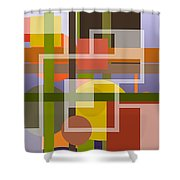 Modern Harmonious Abstract Shower Curtain