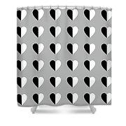 Modern Hearts- Art By Linda Woods Shower Curtain
