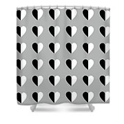 Modern Hearts- Art By Linda Woods Shower Curtain