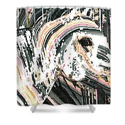 Modern Horse Art By Sharon Cummings Shower Curtain