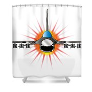 Modern Jet Fighter Shower Curtain