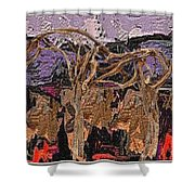 Modern Landscape Shower Curtain