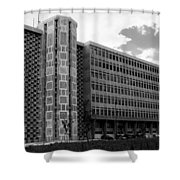 Modern Lisbon - The Palace Of Justice Shower Curtain