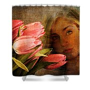 Modern Mona Lisa Shower Curtain