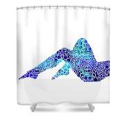 Modern Nude - Legs - Sharon Cummings Shower Curtain