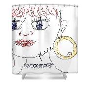 Modern Peace Art Shower Curtain