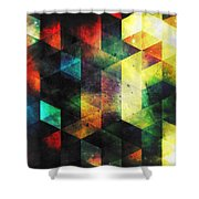 Modern Quadratic Abstraction Shower Curtain